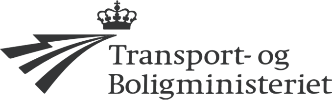 Transport- og Boligminsteriets logo